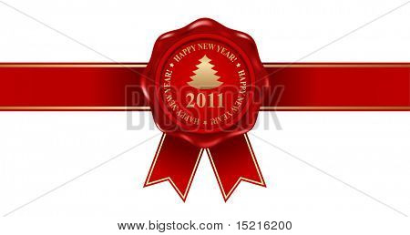 red new year wax seal