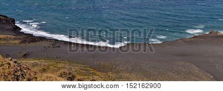 Waves On Black Sand Beach