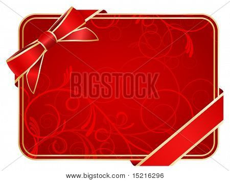 red ornate gift card