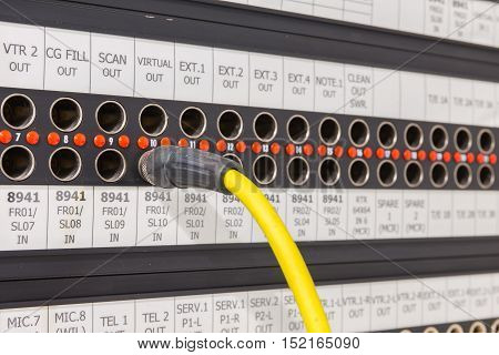 Patch Panel That Is Equipped For Broadcast.