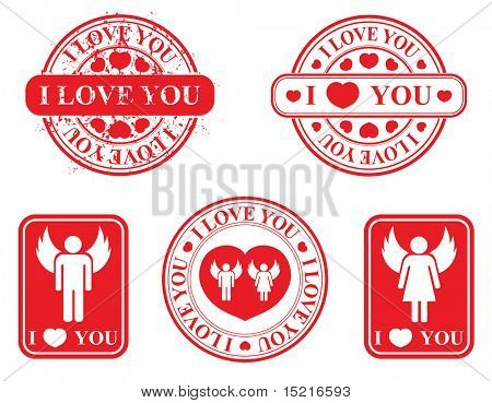 stamp template - love