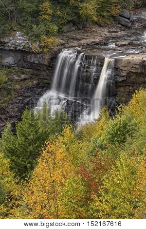 Autumn comes to Blackwater Falls State Park in Tucker County West Virginia.
