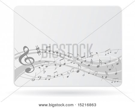 card with music notes