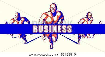 Business as a Competition Concept Illustration Art 3d Illustration Render