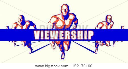 Viewership as a Competition Concept Illustration Art