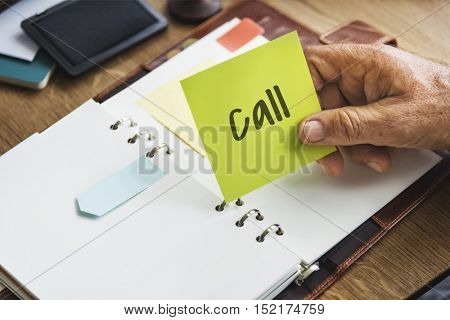 Call Planner Urgent Attention Concept