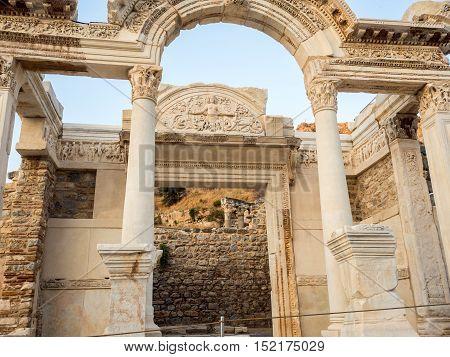 Izmir Turkey - September 13 2016: Ephesus the UNESCO World Heritage Site travel attraction in Turkey.