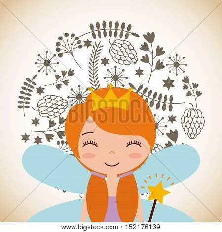 cute little fairy character vector illustration design
