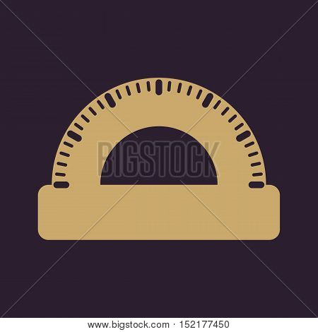 The protractor icon. Protractor symbol. Flat Vector illustration