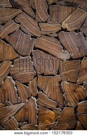 pieces of wood on the table for background