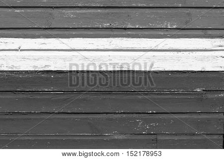 old wooden boards bright gray color texture and background and white strip