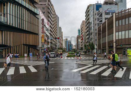 Kaminarimon Street Intersection To Tokyo Sightseeing Asakusa, Senso-ji Temple