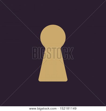 The keyhole icon. Lock symbol. Flat Vector illustration