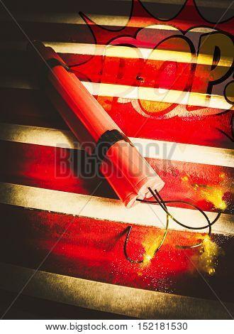 Danger Bomb Background
