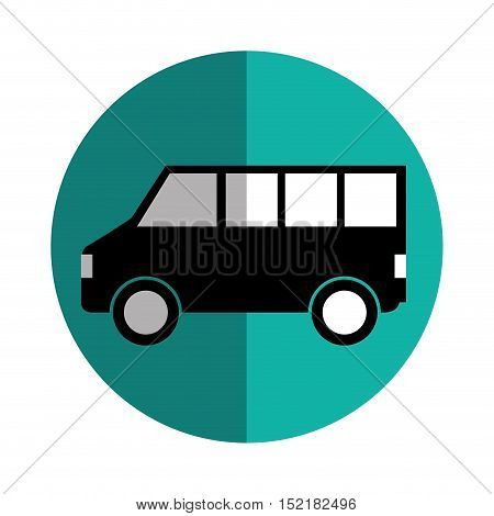 bus vehicle silhouette isolated icon vector illustration design