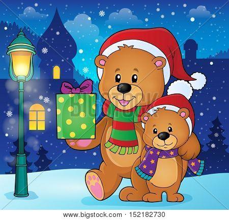 Christmas bears theme image 2 - eps10 vector illustration.