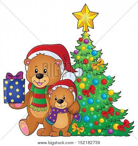 Christmas bears theme image 4 - eps10 vector illustration.