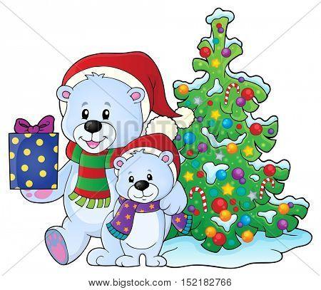 Christmas bears theme image 6 - eps10 vector illustration.