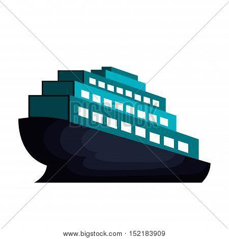 cruise ship isolated icon vector illustration design