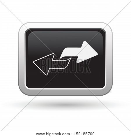 Renew icon on the button. Vector illustration