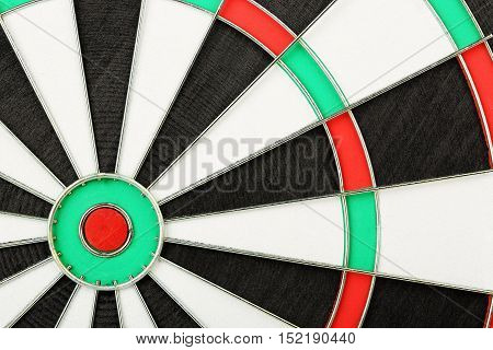 close up of new unused dart board