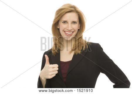 Businesswoman Gestures