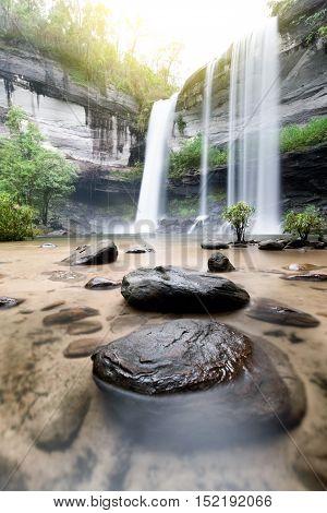 Amazing of Huai Luang Waterfall in Ubon Ratchathani Thailand