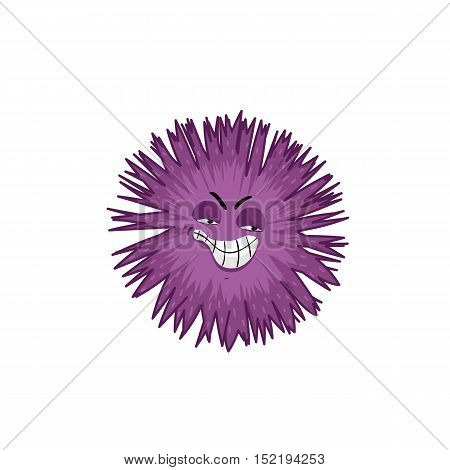 Cartoon viruses character vector illustration on white background. Cute fly germ viruses infection vector. Funny micro bacteria character. Microbe, Pathogen. Viruses icon. Funny isolated viruse characters. Monster virus.