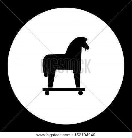 Black Isolated Trojan Horse Symbol Simple Icon Eps10