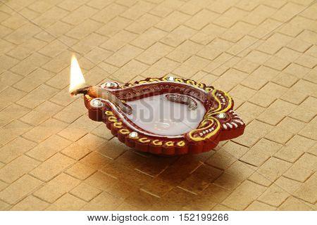 Indian Festival Diwali - Handmade Diya Clay Lamp