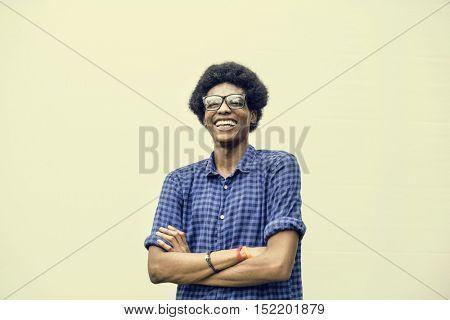 African Descent Teen Boy Smiling Portrait Concept