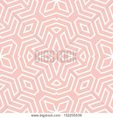 Seamless vector pink and white pattern for your designs and backgrounds. Modern geometric ornament