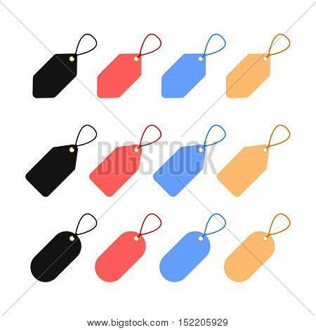 Colorful Set of Blank Template Tag Labels