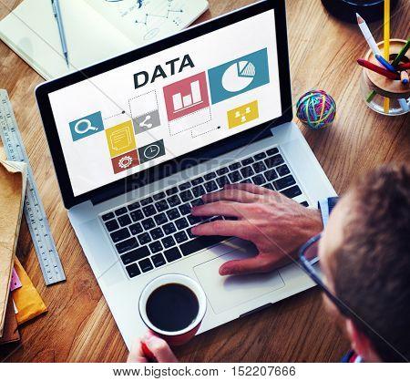 Data Analysis Analytics Information Report Concept