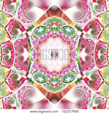 Beautiful fractal pattern with shiny strips. Collection - rhinestones. Artwork for creative design art and entertainment.