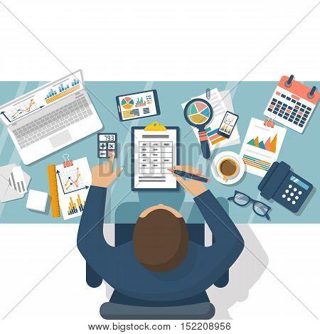 Finance Report, Concept.