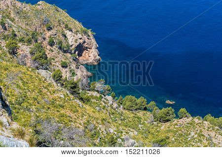 Nice Wild West Coastline of Mallorca Spain.