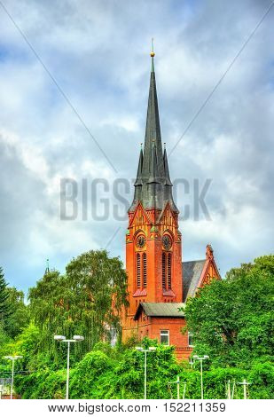 View of St. Lorenz Church in Lubeck - Germany