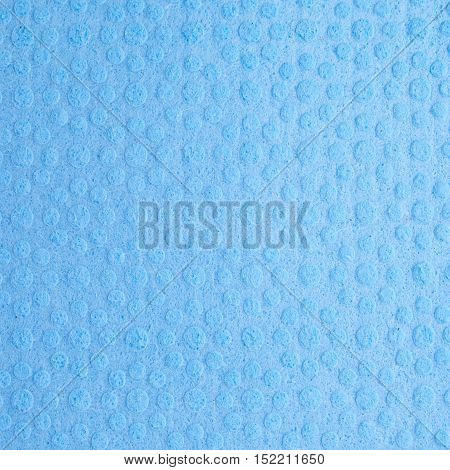 Blue new kitchen cleaning napkin rag texture as background backdrop