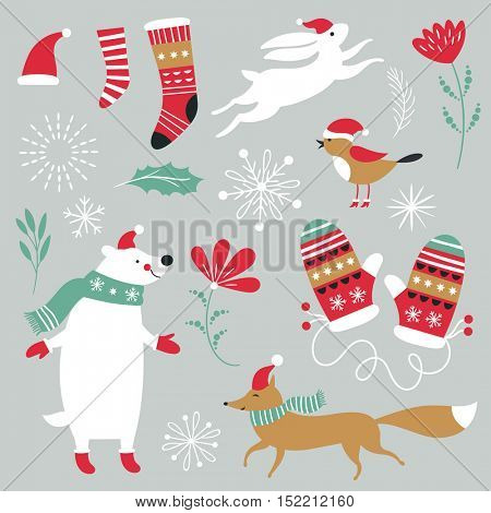 Set of Christmas graphic elements , vector images