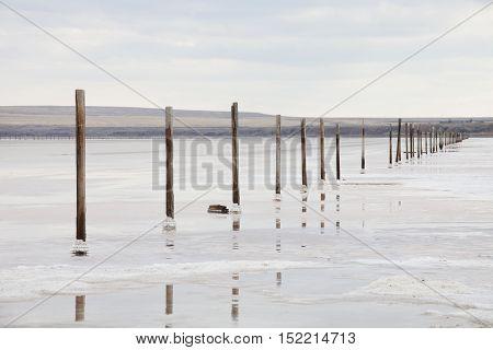 Saline (salt Lake) Baskunchak Landscape.