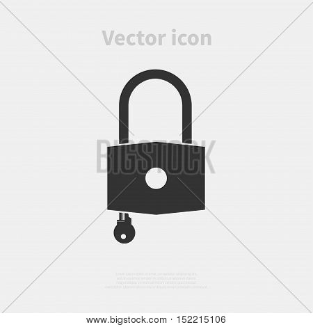 Padlock vector icon isolated on background. Vector illustration.