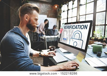Verification Log In User Password Register Concept
