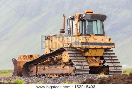 Bulldozer In The Field