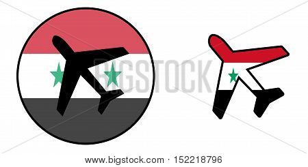 Nation Flag - Airplane Isolated - Syria