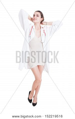 Pretty Elegant Doctor Posing