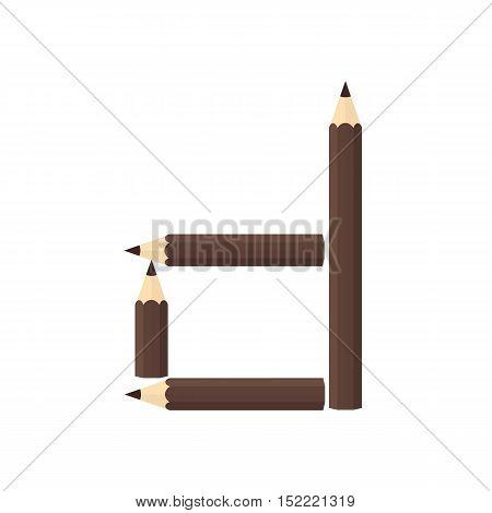 Color Wooden Pencils Concept By Rearrange The Letters D