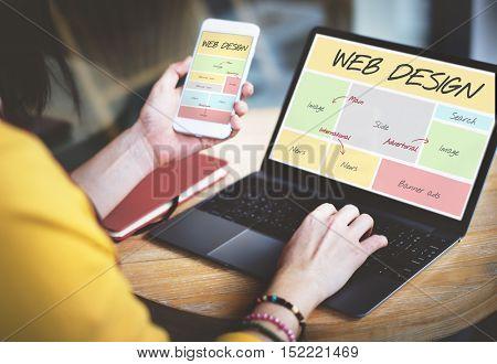 Web Design Website Content Concept