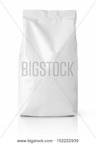 Snack Blank Paper Bag Package On White