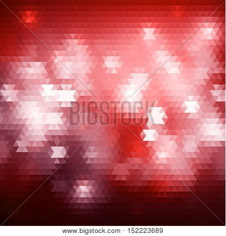 Red triangular background with abstract lights - raster version